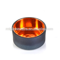 black and golden color mini glass candle stand cheap glass candle holder