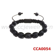 Latest design high quality crystal balls hand-woven fashionable wholesale brand men bracelets