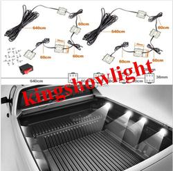 8pc LEDGLOW TRUCK BED WHITE LED LIGHTING LIGHT KIT for CHEVY DODGE FORD TRUCKS