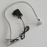 3w 220v Chrome swing arm clip on led table reading light lamp