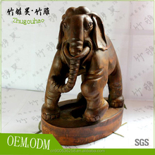 Eco-friendly handmade bamboo root carving