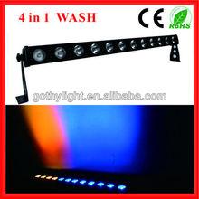 CE RoHS 12x10w Led Flood Light Bar Stage Lights /Rotating Led Wall Wash Light