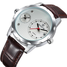 NO 9245 Brown Leather Band White Dial Men Time Piece