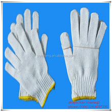 nature white cotton knitted glove for industry use