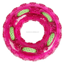 New Fashion Puppy Dog Pet TPR tyre toys with rope