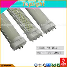 LED lighting energy saving opal cover warm white 415mm 18w 2g11 led tube