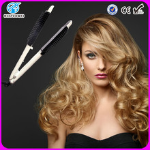 private label hair flat iron with comb for alibaba hair products
