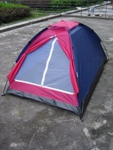 High Quality Canvas Fiberglass Pole Leisure Camping Camping Tent With Double Layers