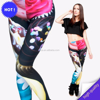 Womens 3D Colorful Stretchy Yoga Fitness Sexy Casual Pencil Pants leggings wholesalers in tirupur