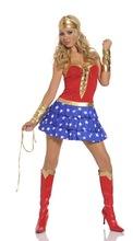 de superhéroes superman superwoman disfraces vestido de traje de la mujer