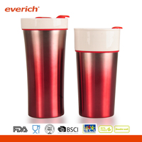 Travel Colorful Ceramic Cup With a New Design Cap Hot Products In China