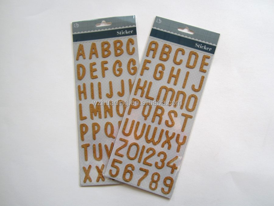 Order Rubber Cork Sheet Alphabet Letter Sticker 3D Wall