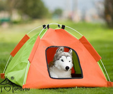 pet outdoor tent folding dog cage waterproof pet camping tent