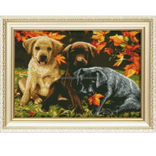 Embroidery kit lovely dogs 5d diamond painting for living room decoration