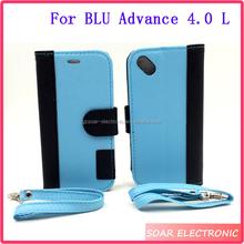 Wholesale Button Pattern Wallet Flip Leather Case For BLU Advance 4.0 L