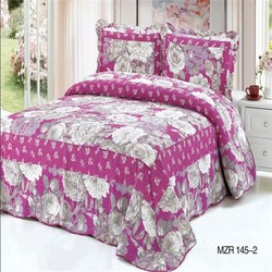High quality home dyed and printed cotton queen bedding set free shipping