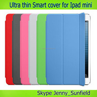 Tablet case cover Ultra thin smart cover case for ipad mini ,for ipad cover smart, for ipad case super slim