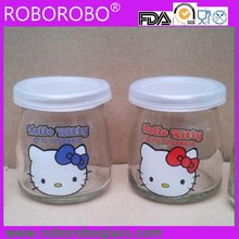 Glass bottle glass pudding cup of small bottles of 100ML with lid