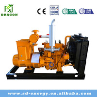 CE ISO approved silent Natural Gas Turbine Generator(200kw/250kva)