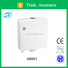 Plastic toilet cistern with gentle press button (A8001)