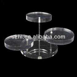 Rotating acrylic jewelry display stand case portable