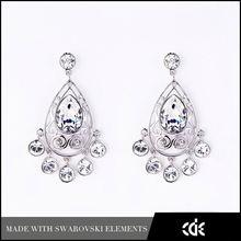 CDE Rhinestone Crystal Tear Drop Earrings Wholesale Jewelry Miami Tassel Earrings