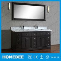 HOMEDEE Modern Style Double Sink Bathroom Vanity Storage