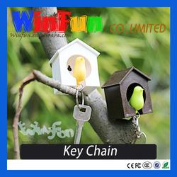 Cute Custom Keychain Sparrow House Design