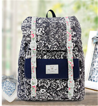South Korean Couples Canvas Backpack Large Capacity Computer DNBG2BP021 Travel Bag