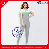 Custom 100 cotton hign quality womens track suit