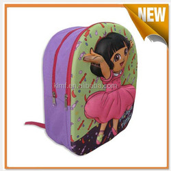 Personalized kids cartoon picture of school bag