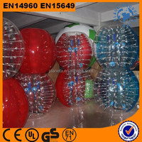 Human size giant inflatable buddy belly bumper ball