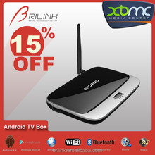 Quad Core Android IPTV Arabic TV Box, IPTV Box Live TV D Smart, 3D TV Converter Box 2GB RAM 8GB ROM with Bluetooth 4.0