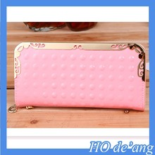 Hogift 2015 new arrival brand lady genuine leather wallet