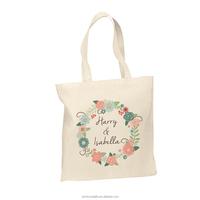 2015 Alibaba China wholesaler reusable eco Cotton Nice logo handle tote bag