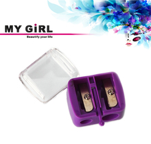 MY GIRL doulbe holes plastic cosmetic pencil sharpener