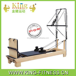 high quality beech wood pilate reformer with stainless steel half trapeze
