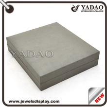 Grey manufacture jewelry hard plastic box for jewelry shop with custom size