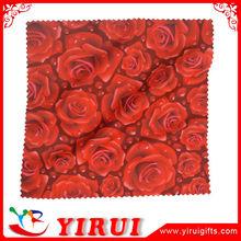 YB139 bulk package digital printing microfibre glass cleaning cloth