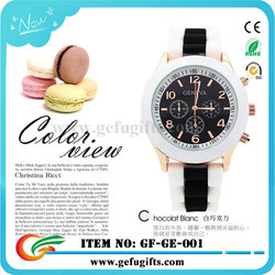 alibaba express wholesale 2015 colorful silicone watch band women geneva quartz watches stainless steel japan movt watch geneva
