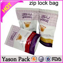 Yason hot mini grip zipper bags one-side see through aluminum foil bag with zipper/ziplock mr. nice guy strawberry mr. nice gu