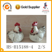 "4""ceramic animals garden decoration chicken"