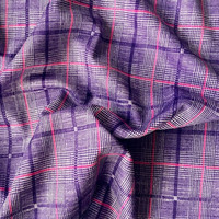 polyester grid knitted fabric/100% rayon stretch fabric