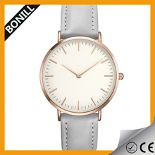 2015 vogue simple leather japan movt watch pvd miyota watch