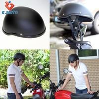Custom Matte Black Helmet Wholesale ABS Motorcycle Skull Cap Novelty Low Profile Half Helmet For Adult Medium Chopper Bobber