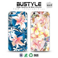 New! 3D Summer flowers mobile phone cover for iPhone 5 6s plus with high quality ultrathin shell case