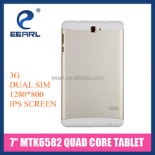 7 Inch Quad Core MTK6582 Built-in 3G Phablet IPS 1280x800 WXGA Android Tablet with 5MP Camera