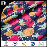 Custom high quality digital pineapple print fabric