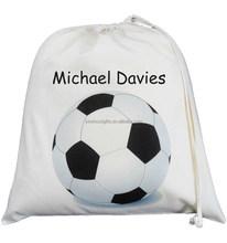 easy carrying fashional cotton promotion drawstring shopping bag