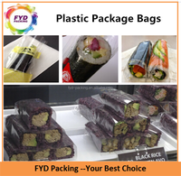 Food Grade Sushi Wrapped OPP Plastic Bags With Colorful Printed